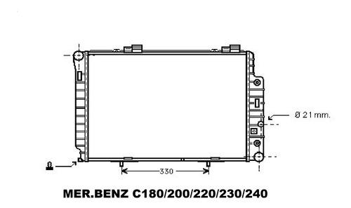 Radiador Mercedes Benz  C180/200/220/230/240  W201/w202