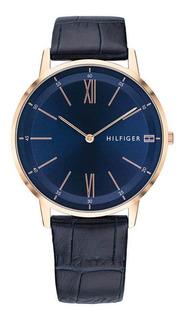 Reloj Tommy Hilfiger Th1791515 M. Cuero/acero Azul