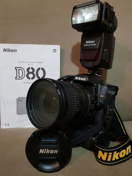 Nikon D80,lente 18x200,flash