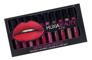 Set 12 Labial Huda Huxia Beauty 24h Indeleble Mate Lip Gloss