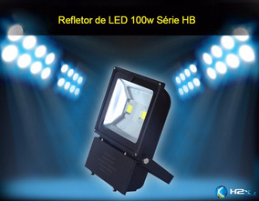 Kit 5 Pçs Refletor De Led 100w Holofote Branco Frio Ip65