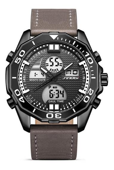 Sinobi 9730 Dual Display Digital Relógio Moda Pulseira De Co