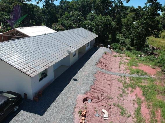 Casa Com 1 Dormitório À Venda, 180 M² Por R$ 300.000,00 - Parque - Itapoá/sc - Ca0583