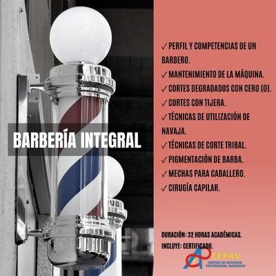Cursos: Microblading, Barbería, Peluquería, Colorimetría.