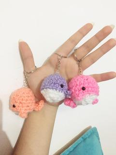 Llaveros De Pequeñas Ballenitas/amigurumis/crochet/lana/