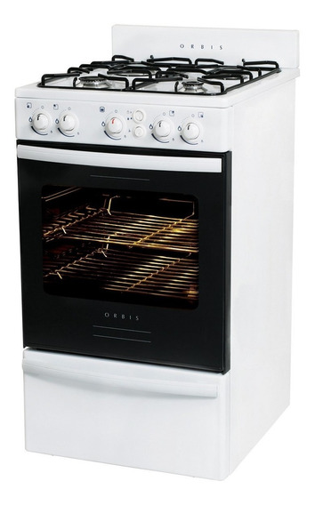 Cocina Orbis Blanca 50cm Gas 558bc2 Autol Luz Y Enc Oferta