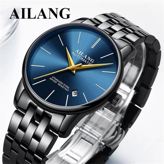 Relógio Automático Ailang, Ultra Fino, Clássico.