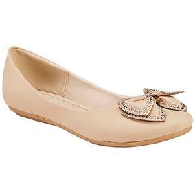 Zapatos Flat Balerinas Dama Beige Miss Pink Sint Udt T00334