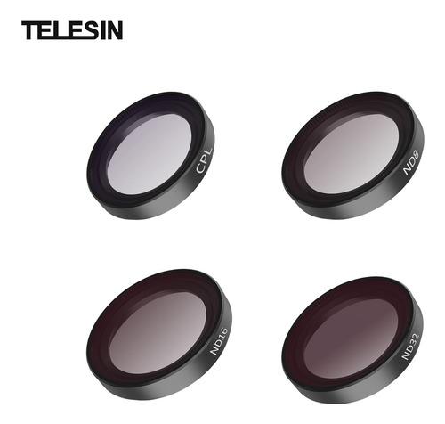 Imagen 1 de 6 de Telesin Is-flt-go2 Kit De Filtro Para Cámara Con 4 Filtros