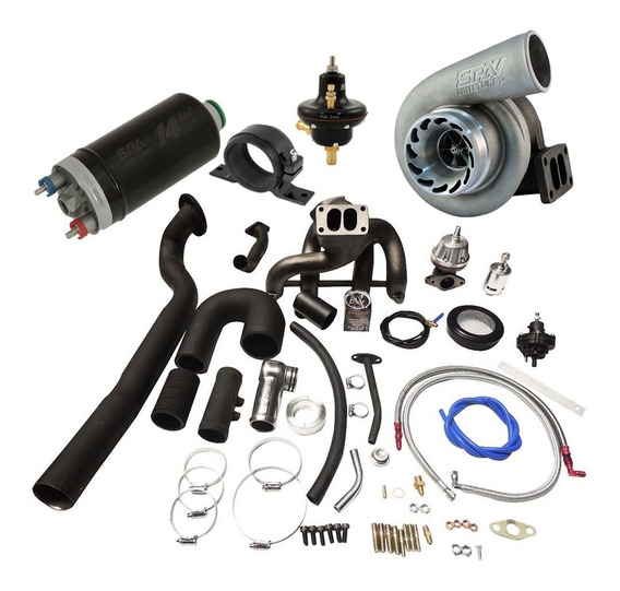 Kit Turbo Ap 8v Multi Puls No Farol C/ Turbina E Bomba + Sup