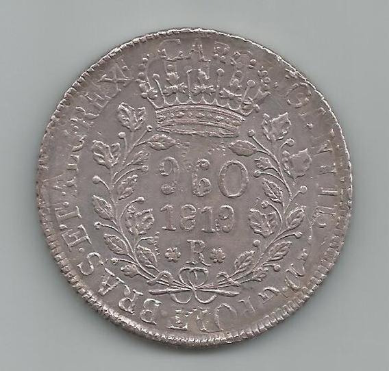 Moeda Prata Brasil - 960 Réis (patacão) - 1819 R - Original