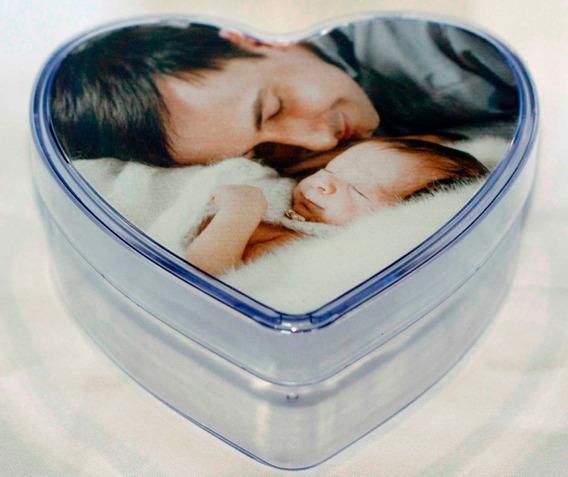 Coração Baleiro Acrílico Presente Dia Dos Pais