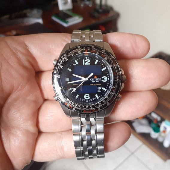 Relógio Citizen Promaster Wingman Vi - Fundo Preto