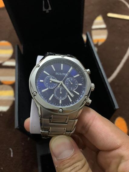 Hermoso Reloj Bulova Blue Tachymeter