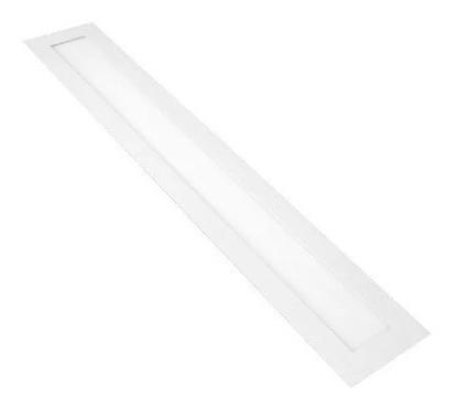 Luminária Painel Plafon Led 120x10 Embutir 30w Cozinha Fina
