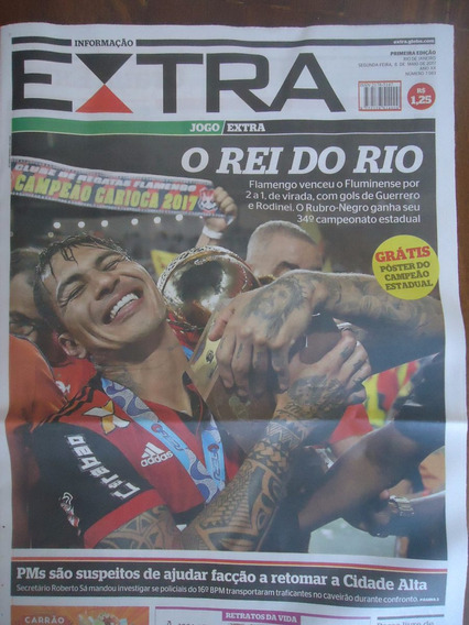 Jornal Extra Flamengo Campeão Carioca 2017