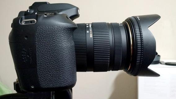 Câmera Canon Eos 80d Dslr Com Lente Sigma 17-50mm F2.8