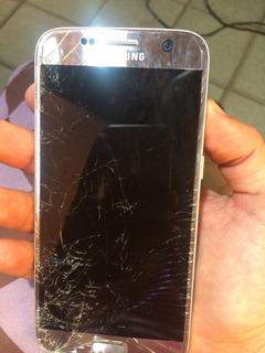 Samsung Galaxy S7 Flat 32gb Original Visor Quebrado