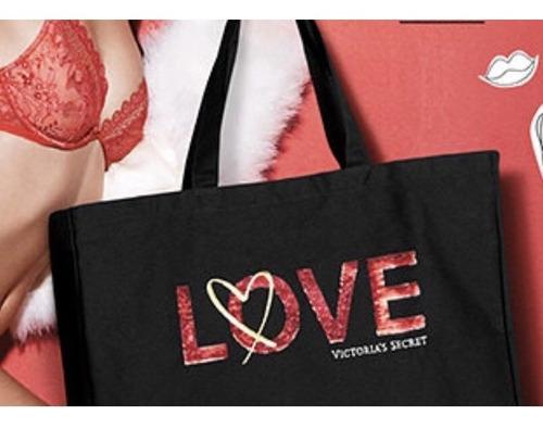Bolso Cartera Victorias Secret Love Negro Importados Usa