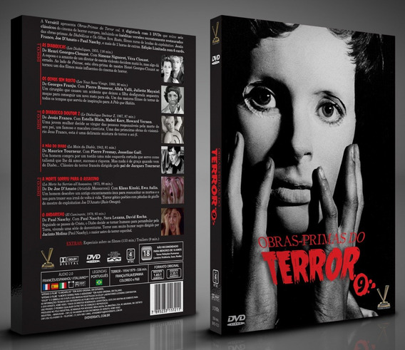 Dvd Obras-primas Do Terror Vol 9 - Amaray 3 Dvds 6 Filmes