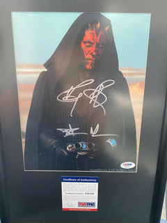 Star Wars Autógrafo Certificado Ray Park Como Darth Maul