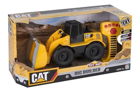 Cat Grandes Máq. Radio Control C/luz Y Sonido Wheel Loader