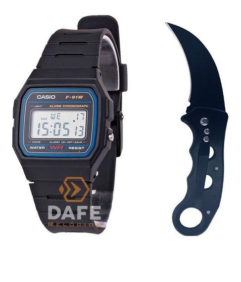 Combo Relógio Casio E Canivete Originais C/ Caixa E Nf