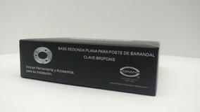 Base Redonda Plana P/poste De Barandal Aceroinox. Satín
