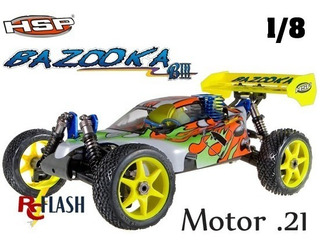 Buggy Auto 1/8 Hsp 94081 Bazooka Nitro Explosion Rtr 4x4