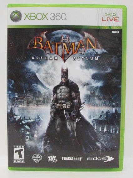 Batman Arkham Asylum Xbox 360 Original Completo Mídia Física
