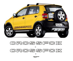 Kit De Adesivos Faixas Laterais Vw Cross Fox De 2006 A 2008