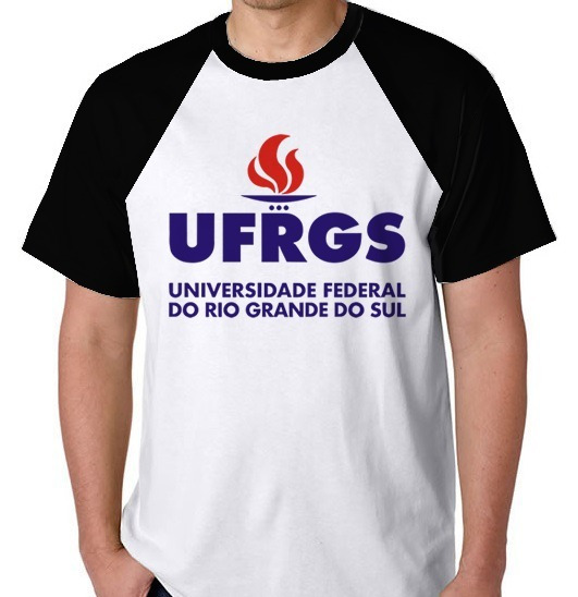 Camiseta Raglan Camisa Blusa Ufrgs Universidade Federal Rs