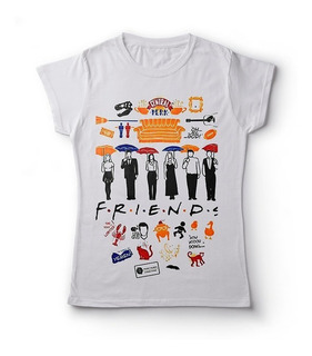 Camiseta Feminina Friends Camisa Baby Look Série Seriado