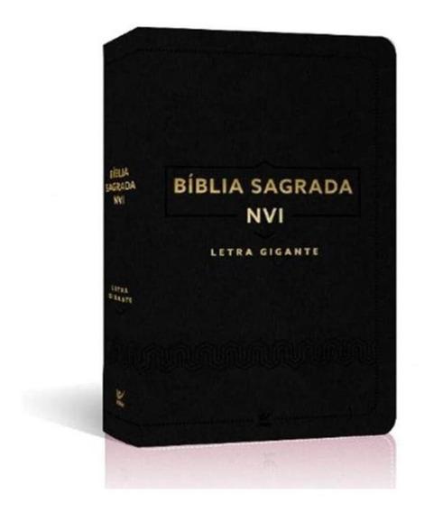 Bíblia Nvi Letra Gigante / Borda Dourada Luxo Preta / Edit