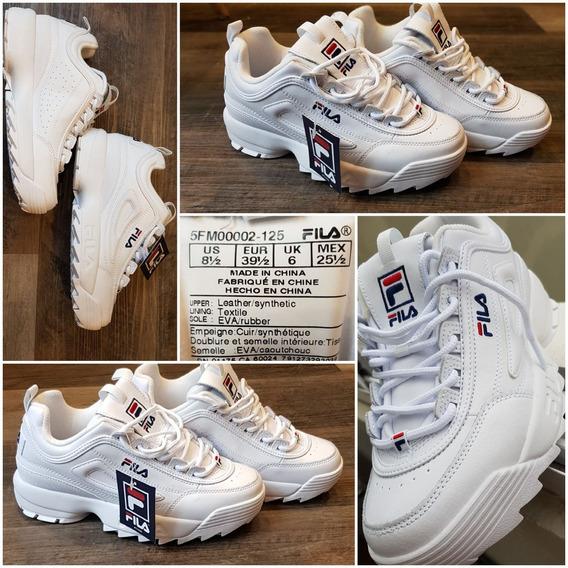 Zapatillas Fila Blancas Mujer Originales