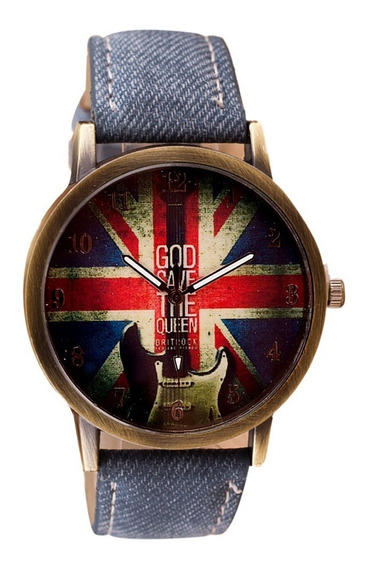 Relógio Masculino Feminino Bandeira Inglaterra R01 A