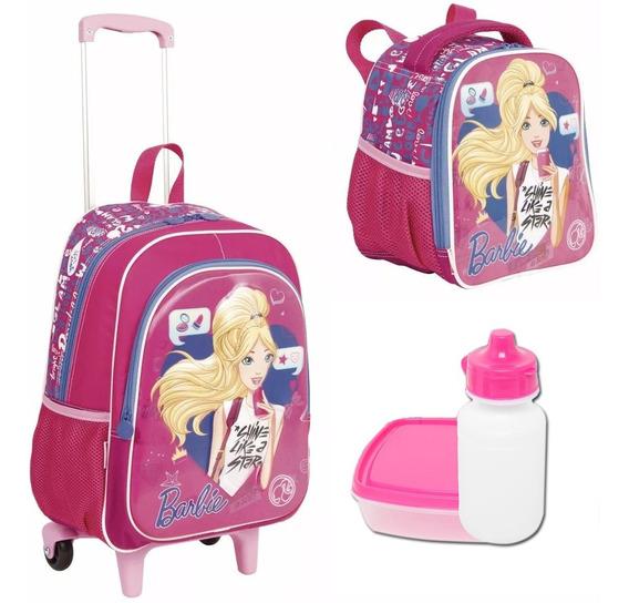 Kit Escolar Infantil Mochila Barbie 17 X Sestini Tamanho G