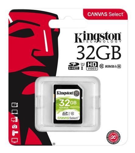 Memoria Sd Kingston 32gb Para Cámaras Y Videograbadoras
