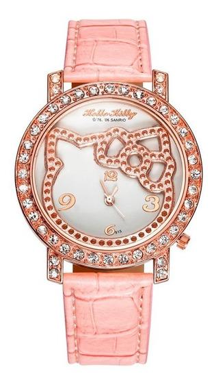 Relógio Feminino Infantil Adulto Elegante Hello Kitty - Pink