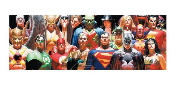 Poster Exclusivo Liga Da Justiça - Signature Omelete Box