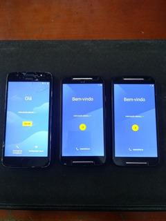 03 Aparelhos Usados Celular Moto G Motorola Retirar Peças