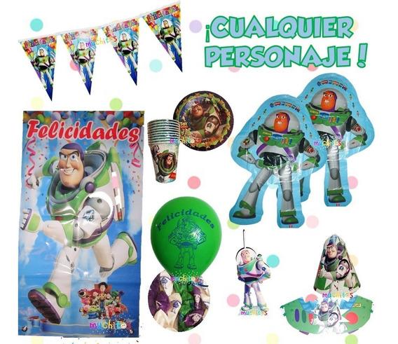 Kit Fiesta Buzz Toy Story Vela Globos Platos Decoración