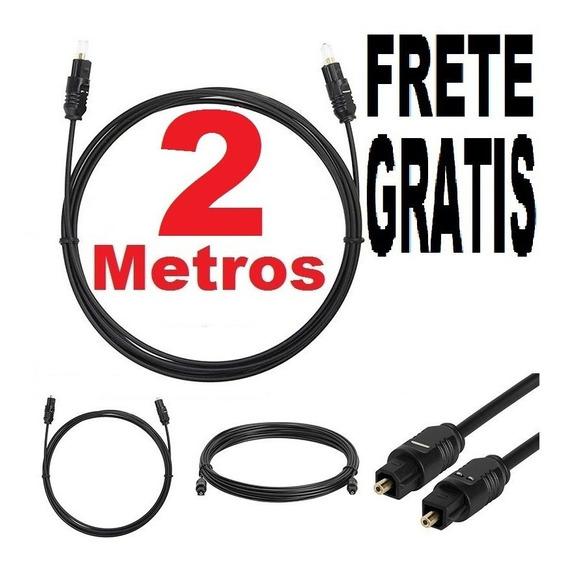 2 Metros Cabo Fibra Ótica Óptica Digital Áudio Vídeo Toslink