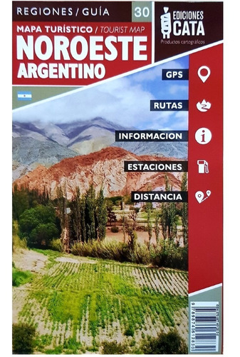 Imagem 1 de 3 de Mapa Rodoviário E Turístico Impresso Noroeste Argentino
