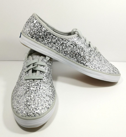 Tenis Keds Champion Silver Glitter Originales Para Mujer
