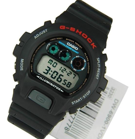 Relógio Masculino Casio G-shock Dw-6900-1vdr Original +nf