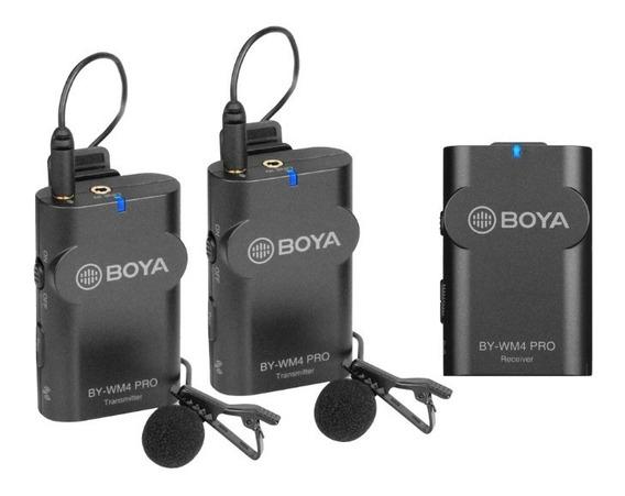 Microfone Boya By-wm4 Pro K2 - Dois Mic - Lapelas Sem Fio