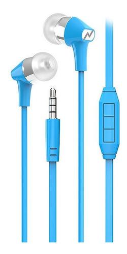 Auriculares In Ear Noga Celulares Manos Libres Cable Flat