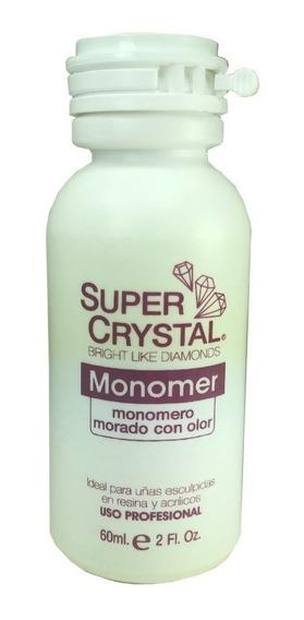 Líquido Monómero Morado Con Olor 2oz / 60ml Super Crystal