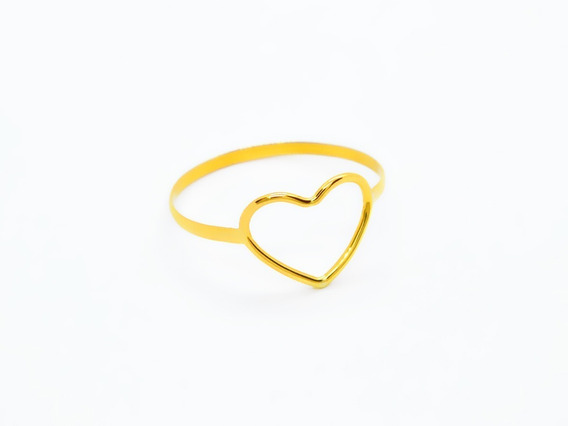 Anel Em Ouro 18k Feminino Coração